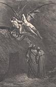 Dantes Inferno - H�lle - Gustave Dor� - Kapitel XXVII - Furien - Erinnyen