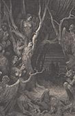 Dantes Inferno - H�lle - Gustave Dor� - Kapitel XXXV - Die Wald von Harpyie