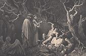 Dante's Hell - Inferno - Gustave Dor� - Chapter XXXVI - Suicides - Pierre Des Vignes