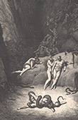 Dante's Hell - Inferno - Gustave Dor� - Chapter LIV - Metamorphosis