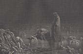 Dantes Inferno - H�lle - Gustave Dor� - Kapitel LXVIII - Verr�ter - Bocca degli Abati