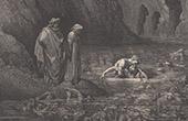 Dante's Hell - Inferno - Gustave Dor� - Chapter LXIX - Ugolino - Archbishop Ruggeri Ubaldini