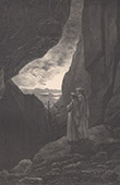 Dante's Hell - Inferno - Gustave Doré - Chapter LXXIV - Way towards the other Hemisphere