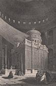 Ansicht von Jerusalem - Grabeskirche - Kirche vom Heiligen Grab - Innere (Israel)