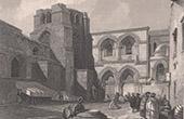 Ansicht von Jerusalem - Grabeskirche - Kirche vom Heiligen Grab (Israel)