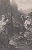 B�blia - Antigo Testamento - Mois�s faz a �gua fluindo da rocha
