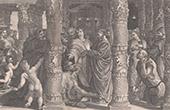 Temple in Jerusalem - Peter and John at the Beautiful Gate - Beggar (Raphael - Raffaello - Raffaello Sanzio)