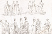 France - Capetians - XIVth Century - Clergy - Princess - Army