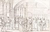 Italienische Tracht - Italienische Mode - Ritter - Klerus - Toskana (Italien)