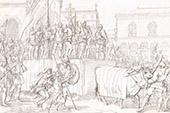 Italienische Tracht - Italienische Mode - Marca Trevigiana - Treviso - Krieger - XIV. Jahrhundert (Italien)
