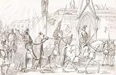 Italienische Tracht - Italienische Mode - Marca Trevigiana - Treviso - Krieger - Reiter - K�nig - XIV. Jahrhundert (Italien)