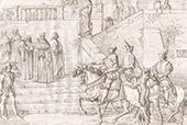 Italienische Kleidung - Rom - Reiter - Klerus - XIV. Jahrhundert - XV. Jahrhundert (Italien)