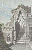 Java - Indonesien - Tempel von Boro Bodo - Säulenhalle