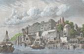 Ansicht von Benares - Varanasi - Gangesufer (Indien)