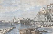 View of Naples - Campania - Quay Santa Lucia (Italy)