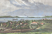 View of Nouméa - Port-de-France (New Caledonia - France)