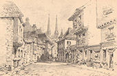 View of Quimper - Old houses - Finist�re - Brittany (France)