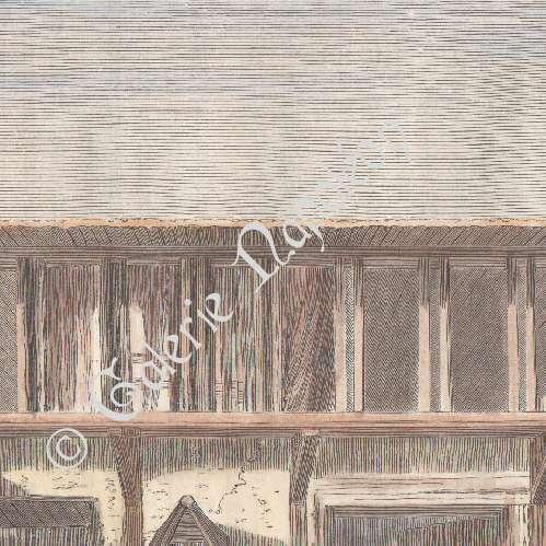 gravures anciennes un caf sivrihisar anatolie asie mineure turquie gravure sur bois. Black Bedroom Furniture Sets. Home Design Ideas