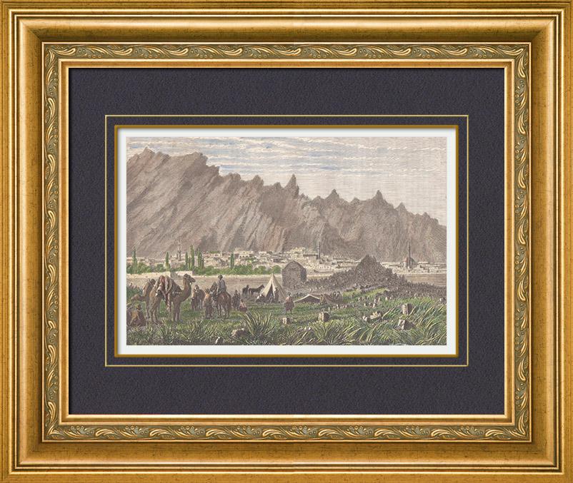 gravures anciennes vue de sivrihisar anatolie asie mineure turquie gravure sur bois 1885. Black Bedroom Furniture Sets. Home Design Ideas