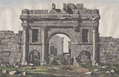 Arc de Triomphe devant les Temples de Sbe�tla - Sufetula (Tunisie)