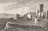 Schloss von Aberystwyth - Ceredigion - Cardiganshire - Wales (Vereinigtes Königreich)
