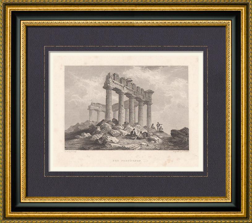 Stampe Antiche & Disegni | Partenone - Acropoli di Atene - Grecia antica (Grecia) | Stampa calcografica | 1833
