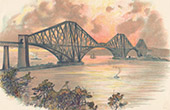 Forth Bridge - River - Edinburgh - Scotland (United Kingdom)