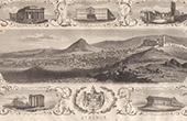 Vue d'Athènes - Acropole - Panthéon - Temple de Thésée (Grèce)