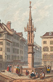 View of Basel - Market Place (Switzerland)