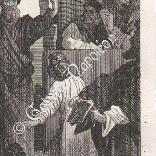 alte stiche stich von predigt des apostels paulus in ephesos le sueur. Black Bedroom Furniture Sets. Home Design Ideas