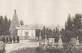 View of P�re Lachaise Cemetery in Paris (France)