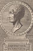Porträt von Titus Quinctius Flamininus (230 v. Chr. - 174 v. Chr.)
