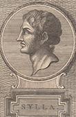 Portrait of Sulla - Roman dictator (138 BC - 78 BC)
