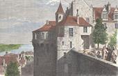 View of Tours - Castle - Indre-et-Loire (France)