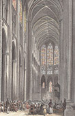 View of Tours - Metropolitan Cathedral - Saint Gatien's Cathedral - Interior (France)