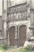 Church of Montr�sor - Portal - Indre-et-Loire (France)
