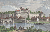 View of Amboise - Castle - Loire - Indre-et-Loire (France)
