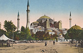 View of Constantinople - Istanbul - Hagia Sophia (Turkey)