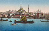 View of Constantinople - Istanbul - Yeni Valide Mosque (Turkey)