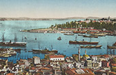 View of Constantinople - Istanbul - Sarayburnu - Seraglio Point - Bosphorus - Bosporus - Golden Horn (Turkey)