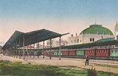 View of Constantinople - Istanbul - Sirkiedji Railway station (Turkey)