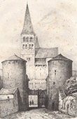 Abtei Saint-Philibert von Tournus - Burgund - Bourgogne - Sa�ne-et-Loire (Frankreich)