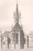Architect's Drawing - Montmorency - St-Martin Church (Lucien Magne)