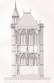 Architect's Drawing - Chapel of the Castle of Vincennes - Treasure