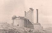Dessin d'Architecte - Vernègues - Temple romain de Château-Bas