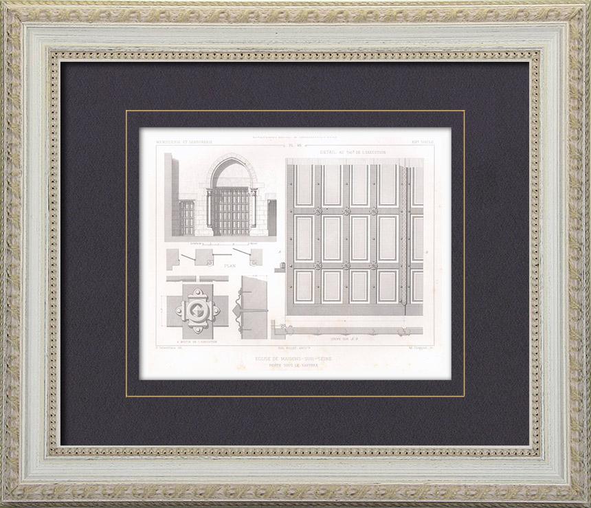 Gravures anciennes gravures de millet for Architecte maisons laffitte