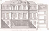 Architektenzeichnung - Paris - Haus - Compagnie du chemin de fer de Paris � Orl�ans (Louis Renaud)
