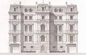 Architektenzeichnung - St Cloud - Haus - Maison d'Habitation (M. Abel Boudier Architecte)