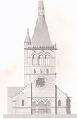 Architektenzeichnung - Maisons-sur-Seine - Maisons-Laffitte - Kirche (Eug�ne Millet)