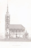 Architect's Drawing - Church of Saint-Illide - Cantal (M. Magne)